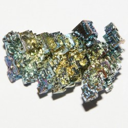 Heavy metals - Bismuth crystal with fancy oxide film, 18 grams, 2 x 3 cm.