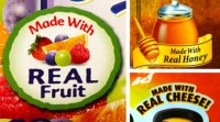 Made With Real Fruit, Made With Real Honey, Made With Real Cheese Labels