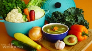 Detox Cream of Vegetable Soup Recipe With Fresh Cilantro and Avocado