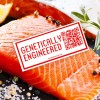 Salmon with Genetically Engineered Label